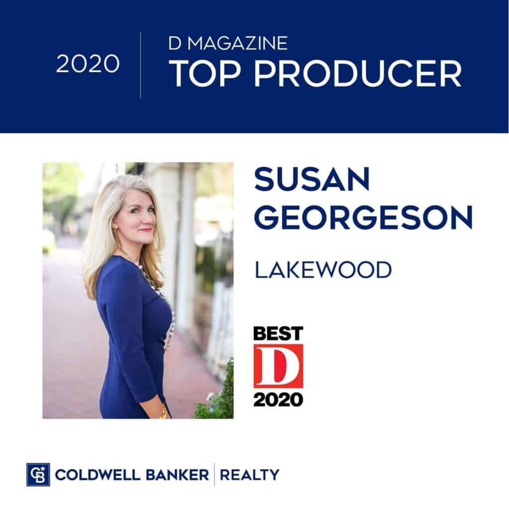 Susan Georgeson - D Magazine Top Producer 2020
